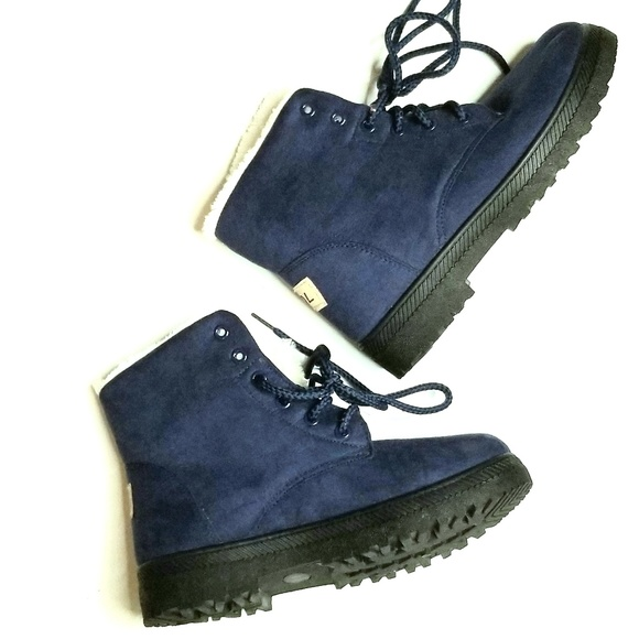 SQL Shoes | Sql Navy Blue Winter Boots